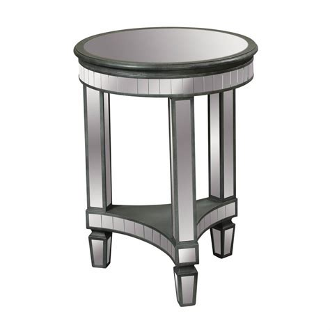 round mirrored accent table round mirrored end table decor ideasdecor ideas