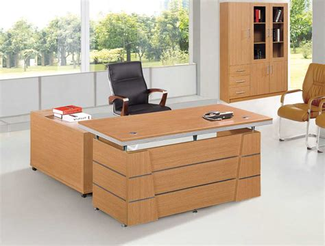 Furniture Light Brown Wooden L Shaped Desk With Shelf And Wooden L Shaped Office Desk
