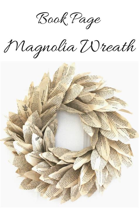 magnolia book book page magnolia wreath seeking lavendar lane