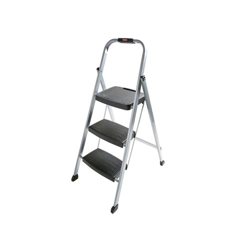 3 step steel step stool rubbermaid 3 step steel step stool ladder rm 3w the home