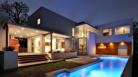 wallpaper house mansion pool modern interior high