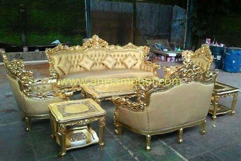 Kursi Tamu Sofa Ukir Mewah kursi sofa tamu ukir mewah gold anisa mebel furniture