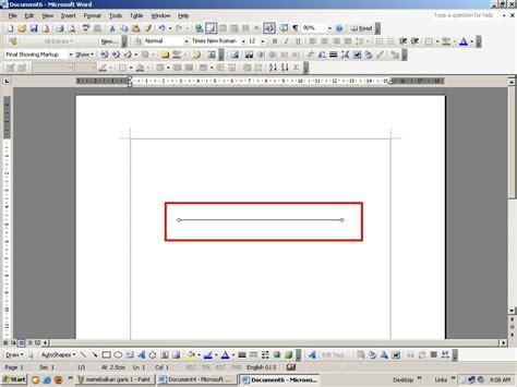 membuat garis di ms word 2003 cara menebalkan variasi garis di ms word 2003 belajar