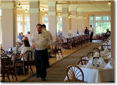 lake yellowstone hotel dining room near the end of the season