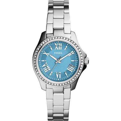 Fossil Ladies Glitzy Blue Dial Cecile Watch   Fossil from