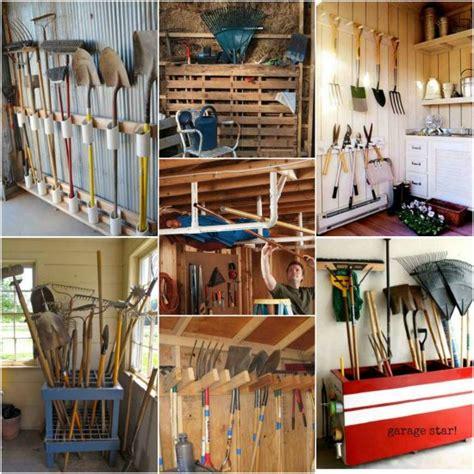 shovel and rake storage cabinet 18 creative ways to store shovels rakes and vertical gear
