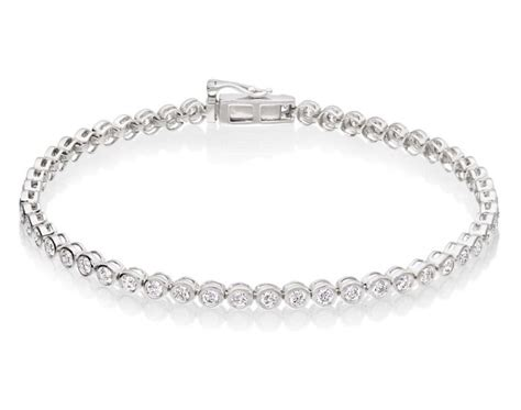 diamond tennis bracelet in 18k white gold 2 blue nile diamond tennis bracelet 2ct g hsi quality bezel set 18k