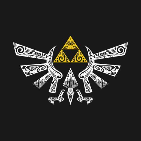 zelda hyrule emblem link shield t shirt teepublic