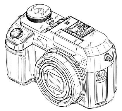 camera clip art black and white | digital cameras
