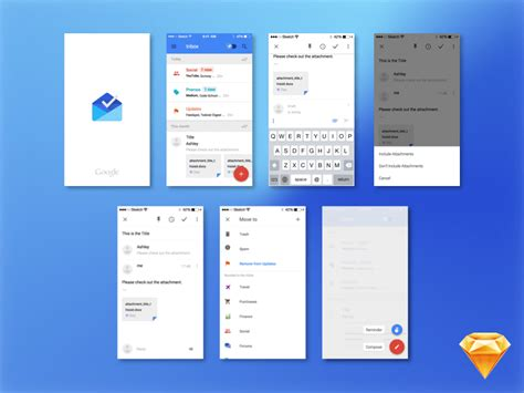 material design mockup kit google inbox mockup sketch resource for sketch image zoom