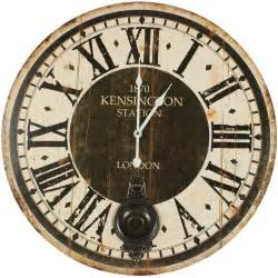 horloge ancienne balancier 1870 kesington station 58cm