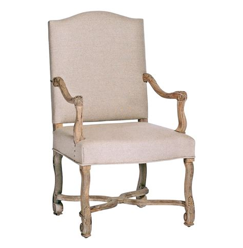 rustic armchair dafny camel back rustic oak empire linen arm chair kathy kuo home
