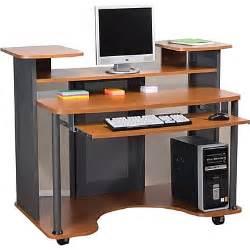 computer desk staples staples 174 eclipse workstation cherry staples 174