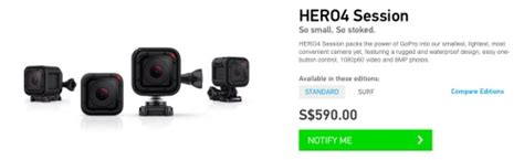 Gopro 4 Singapore gopro unveils the s 590 hero4 session its smallest and lightest yet hardwarezone sg