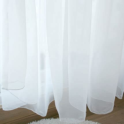 organza voile curtains white pure color organza sheer voile curtains window