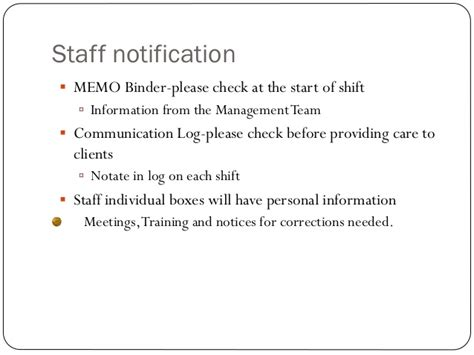 Sle Memo Keeping Office Kitchen Clean New Employee Powerpoint