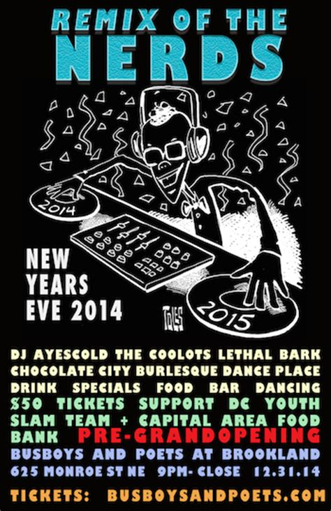 four7 luke m area code remix remix of the nerds nye 2014 at brookland tickets wed