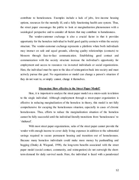 thesis statement on homelessness homelessness essay buycustomwing x fc2