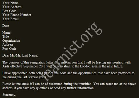 Resignation Letter For Relocation relocate relocation resignation letter exles