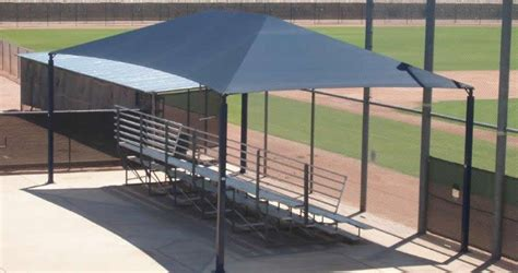 Industrial Awnings Sports Bleacher Shade Amp Awning Shade N Net