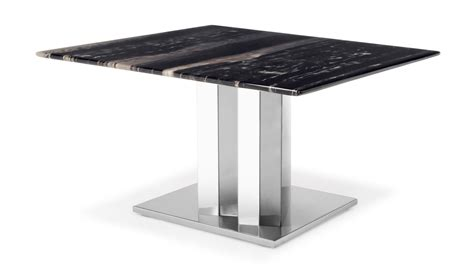 black and white marble polished stainless steel malbec nero black and white marble end table with polished stainless steel base zuri furniture