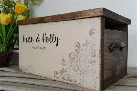 rustic card box wedding card box personalized wedding card box rustic wedding wedding