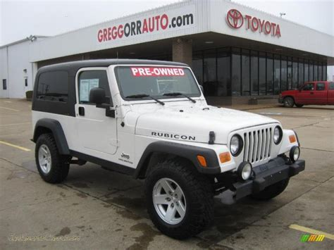 2006 Jeep Wrangler Rubicon Unlimited For Sale 2006 Jeep Wrangler Unlimited Rubicon 4x4 In White