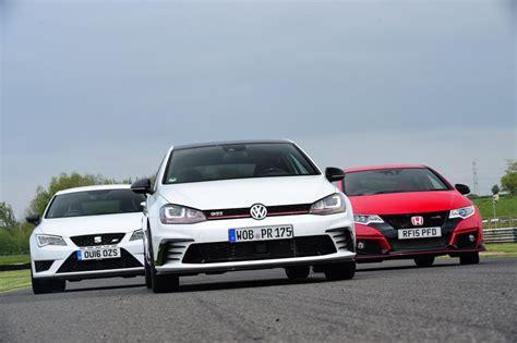 Volkswagen Vs Honda by Vw Golf Gti Clubsport Vs Seat Cupra 290 Vs Honda