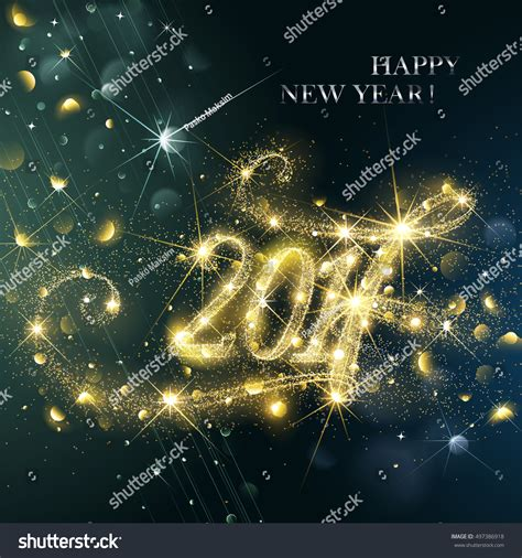 new year illustration new year fireworks confetti 2017 vector stock vector