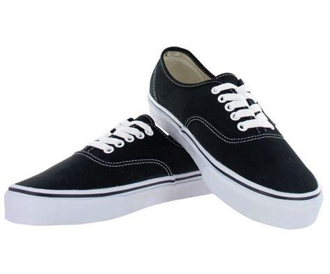 vans sneakers mens vans authentic black white mens womens canvas shoes