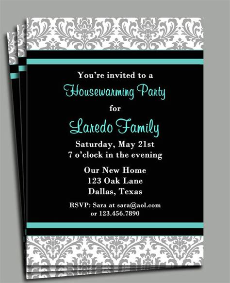 printable invitations housewarming housewarming invitation printable you pick by