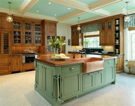 painted kitchen island ideas french country kitchen decorating with painted island