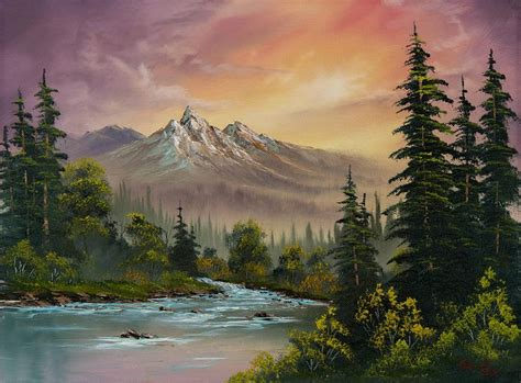 bob ross paintings acrylic 17 best ideas about acrylic landscape painting on