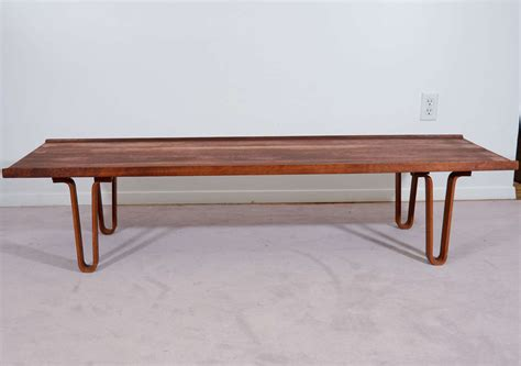 bench with hairpin legs mid century dunbar bench or table with quot hairpin quot legs at