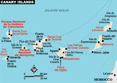 map of canary islands irenemarias travels the canary islands