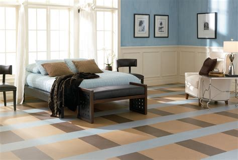 forbo marmoleum click natural linoleum flooring modern bedroom chicago by