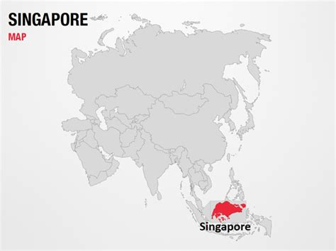 world map image singapore singapore on world map powerpoint map slides singapore
