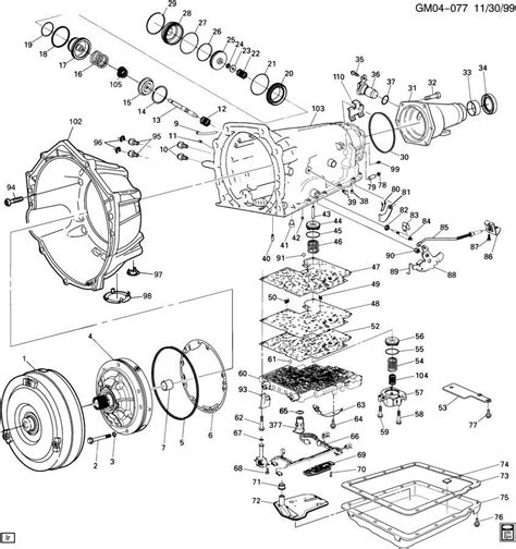 diagram of automatic transmission 4l60e automatic transmission parts diagram automatic