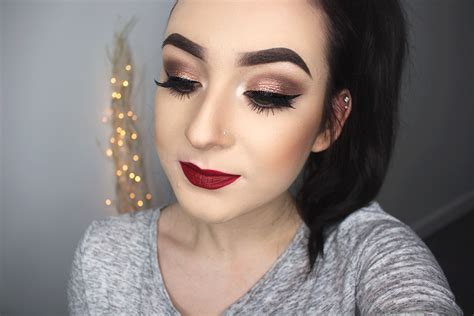 christmas inspired makeup look gemma louise