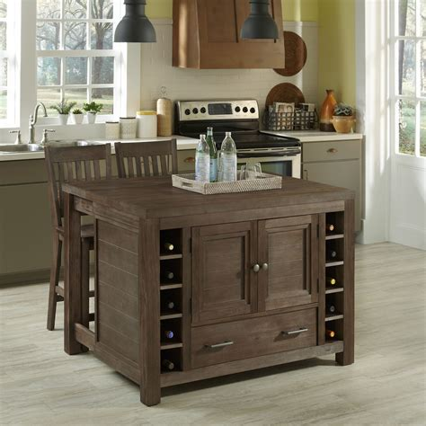 kitchen island stools home styles barnside kitchen island and two stools