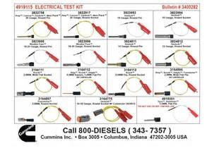 cummins wiring test lead kit for sale in north york on