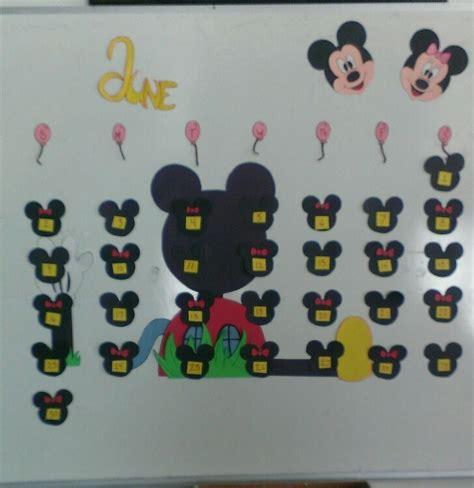 Handmade Bulletin Board - mickey and minnie mouse calendar custom handmade
