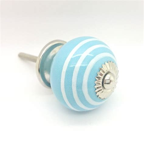 Knobs Ceramic by Ceramic Striped Cupboard Handle Door Pull Knob By
