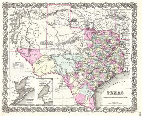 vintage texas map vintage map of texas drawing by cartographyassociates