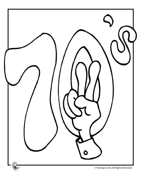 70s Coloring Page peace sign coloring page coloring home