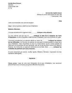 Exemple lettre recours administratif