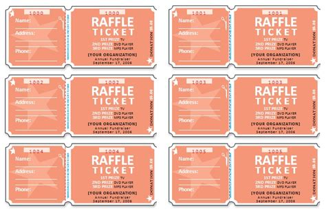 free raffle ticket template for publisher publisher raffle ticket template invitation template
