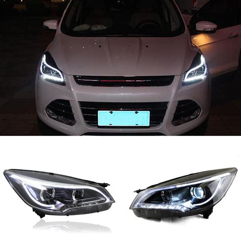 for ford escape 2013 15 front headlight assembly white