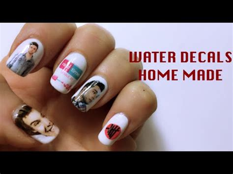 tutorial nail art mikeligna diy water decals home made nail art tutorial
