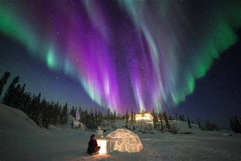 igloo under northern lights canada s 25 most unique accommodations travel blog by